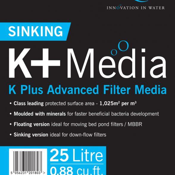 K+ Filter Media Zwart